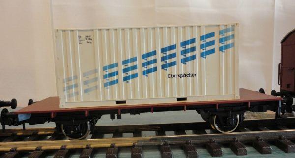 Märklin Spur 1 Containerwagen Eberspächer, 2 achs., gebraucht