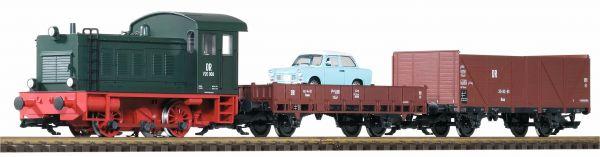 G-Start Set V 20 + 2 Güterwagen DR mit Sound / piko 37121