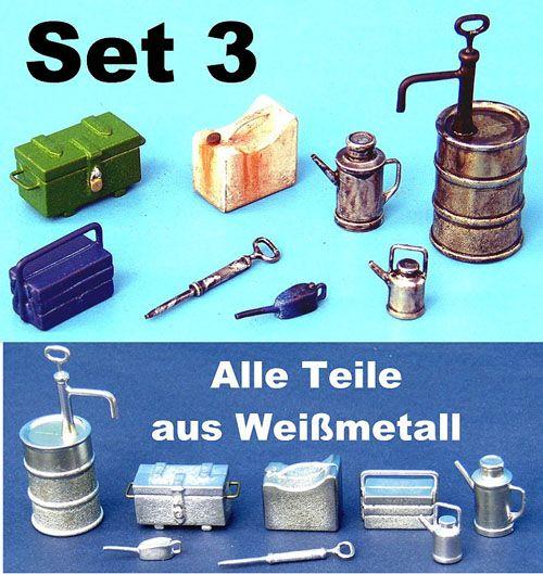 Werkstatt Set 3 Bausatz zum Selbstbemalen aus Weißmetall
