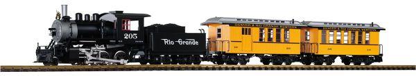 G-US Startset Personenzug Lok m.Tender, Coach+Combine, Sound / piko 37111
