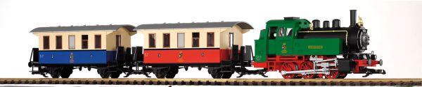 G-Personenzug bunt + BR 80 / piko 37130