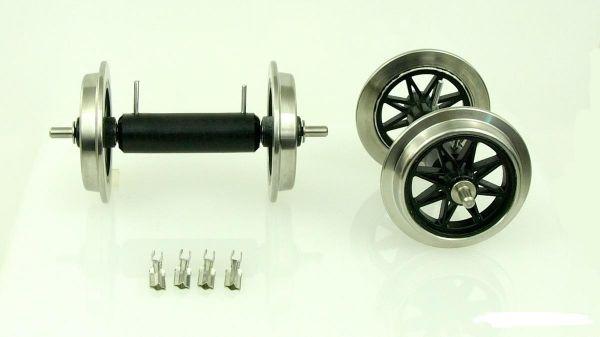 Metall V Speichenradsatz, 2 Achsen mit Stromführung