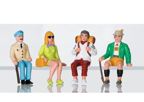 Figurenset Touristen sitzend / LGB L53007
