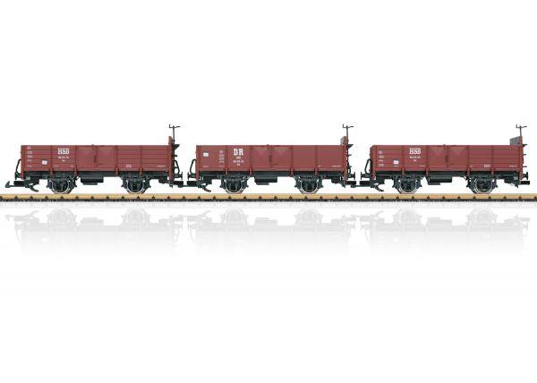 Wagen-Set off.Güterwagen HSB / LGB 40030