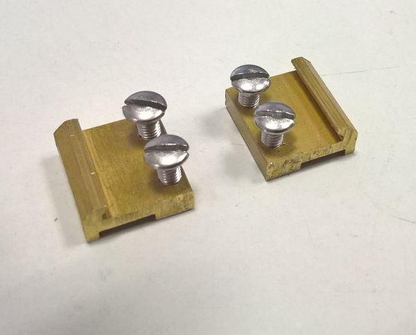 20 St. Schraubschienenverbinder 15mm Messing