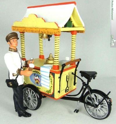 Eisfahrrad mit Verkäufer Set ,Kunststoff-Figur